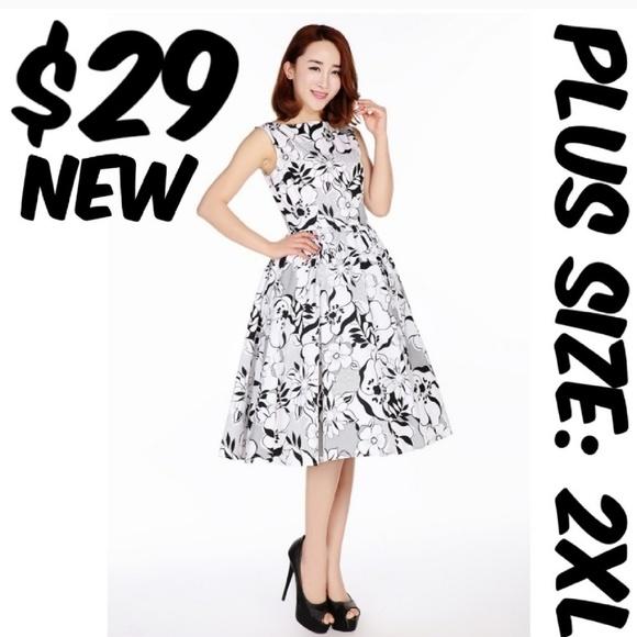 Cs Dresses Plus Size Pin Up Circle Dress Vintage Girl 2xl Poshmark
